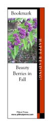 This bookmark depicts Beauty Berries.