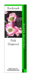This bookmark depicts a Pink Dogwood.