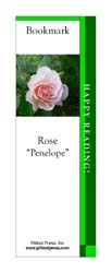This bookmark depicts a Penelope Rose.