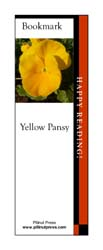 This bookmark depicts a Yellow Pansy.